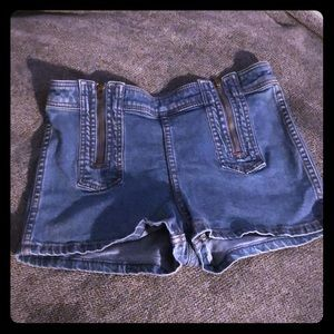Free People denim jean shorts